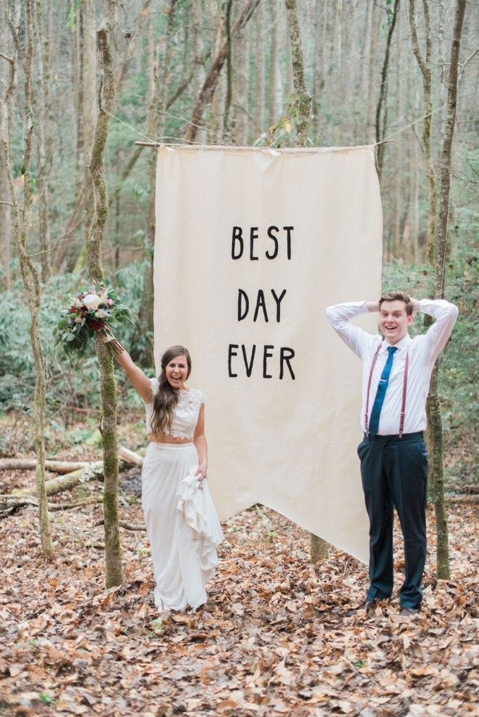 Best Day Ever Smoky Mountain Elopement Madeline Harper Photo Via Mountainsidebride