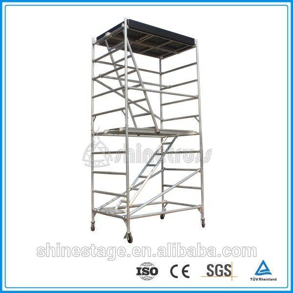 TUV Manufacturer H shape concert speaker/lighting hanging mobile aluminium used scaffold/Used scaffolding for sale#scaffolding