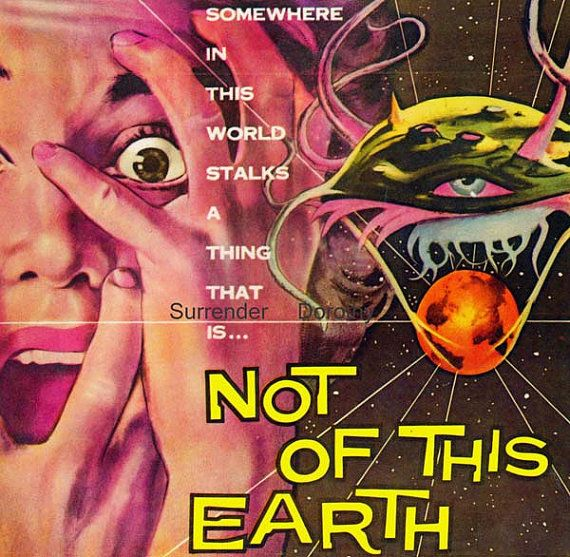 Not Of This Earth 1950s Sci Fi Horror Movie #HalloweenExperiment