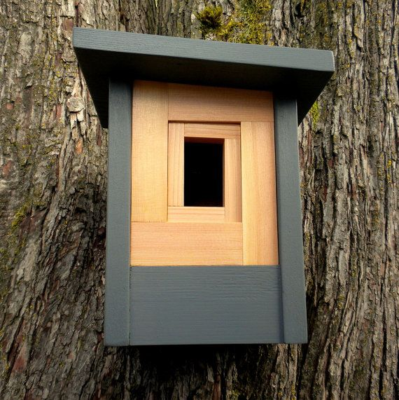 modern craftsman birdhouse