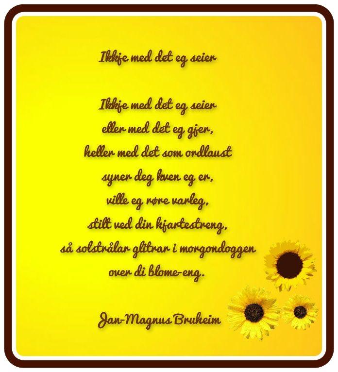 Jan-Magnus Bruheim dikt.