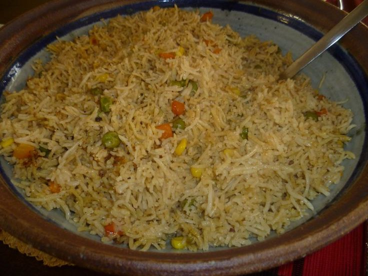 somali rice. gotta give credit to my best friend for introducing this amazing rice to me :)Bariis isku karis.  made it and loved it