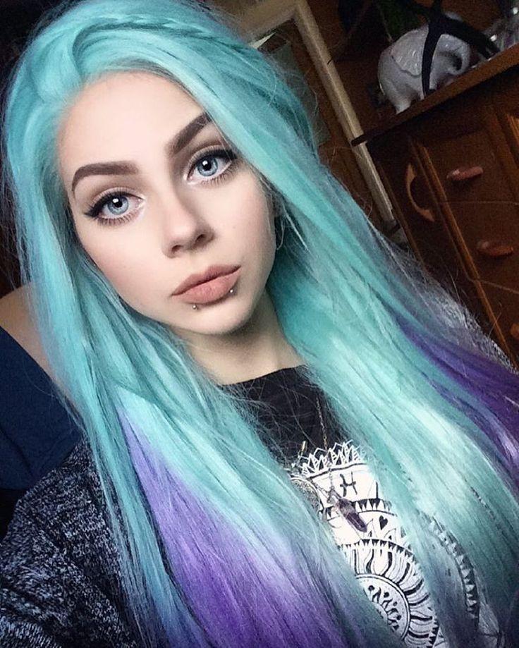 Teñido turquesa y violeta