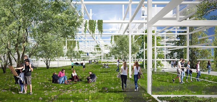 Gallery of Sustainable Proposal Envisions Krakow's New Science Center as a Tiered Garden - 1