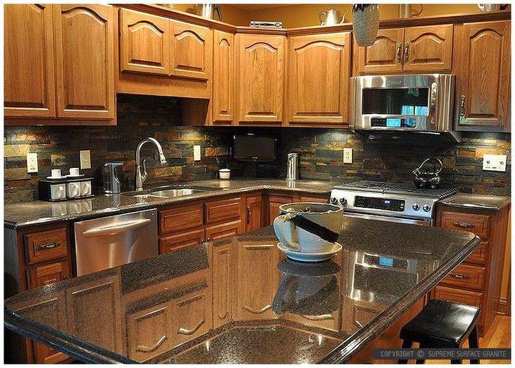kitchen backsplash for dark countertops