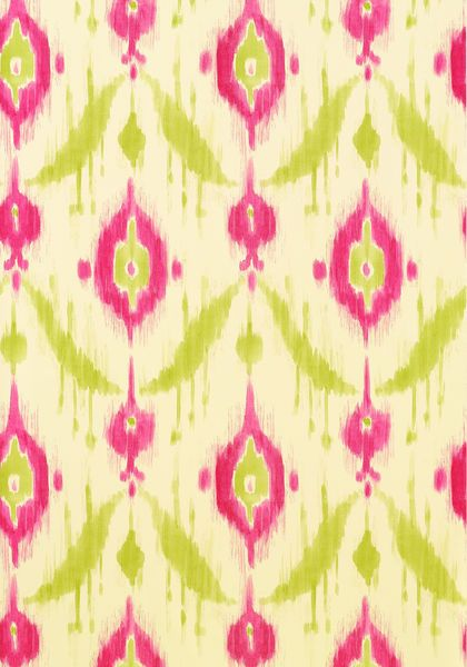 ISLAND IKAT, Pink and Green, T9168, Collection Avalon from Thibaut