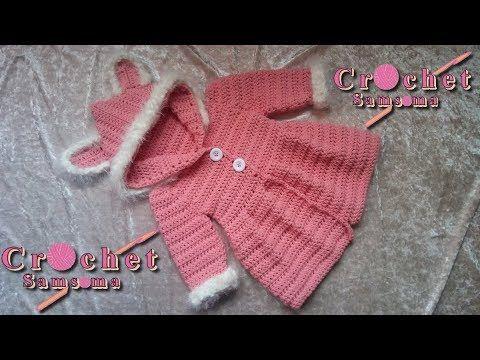 Abrigo Crochet para Nenas con orejitas / Tutorial | Crochet y Dos agujas - Patrones de tejido