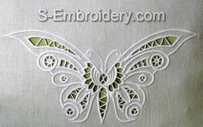 cutwork embroidery | This cutwork lace butterfly machine embroidery design will make a nice ...