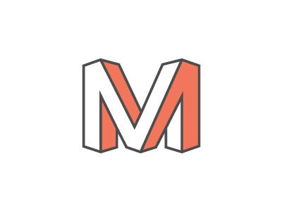 Mind bending perspective in this logo monogram by Matt Grunstad.