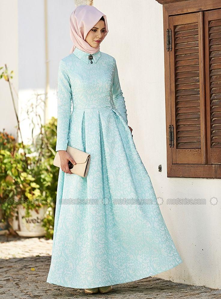 Asude Brokar Elbise - Mavi - Nilüfer Kamacıoğlu ucuz, kaliteli ve bir tık ötenizde. İncelemek ya da satın almak için tıklayınız...