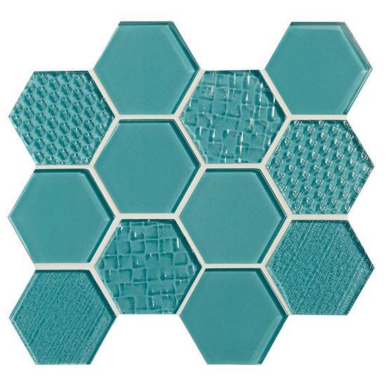Felicity Glass Tile American Olean Fountain Blue