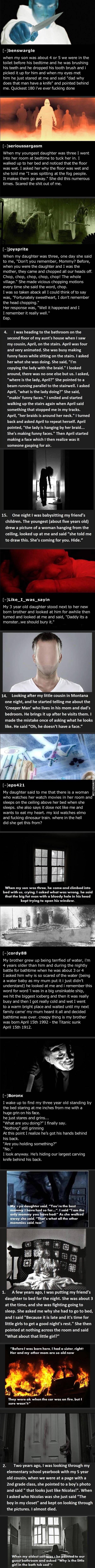 Kids say the darndest things. So, so creepy....