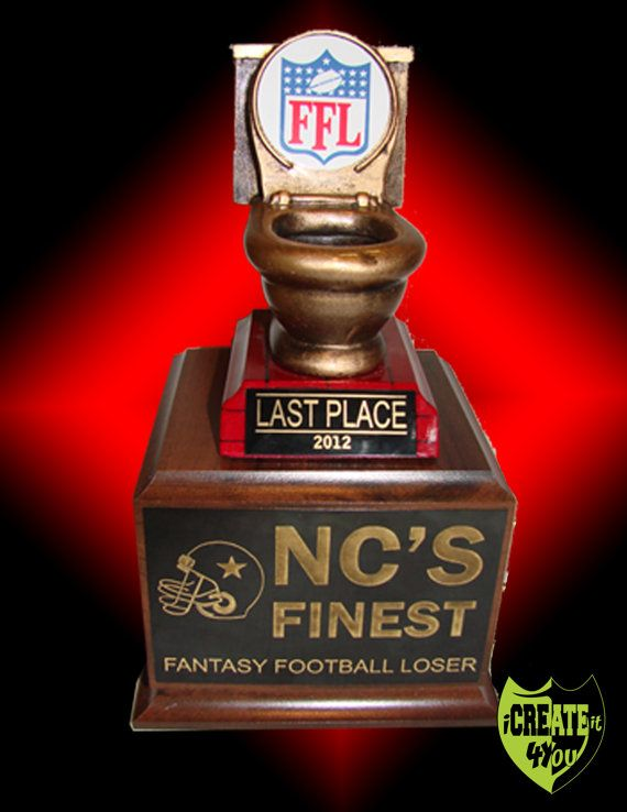Toilet Bowl Loser Fantasy Football Trophy by iCreateIt4You on Etsy