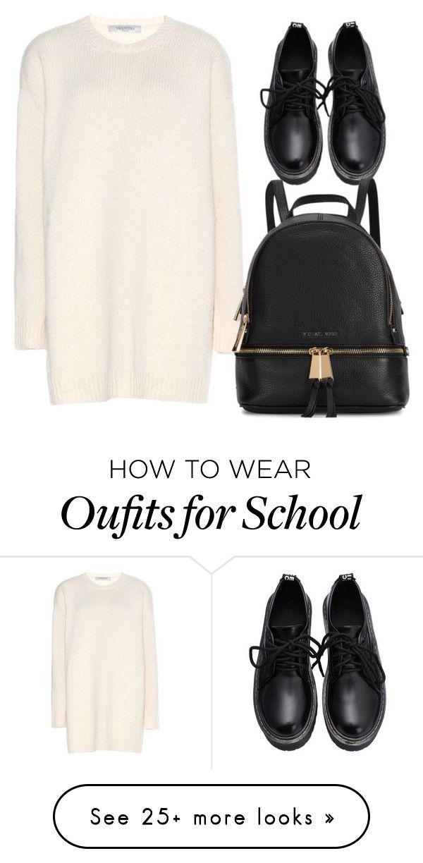 """school outfit"" by meloprea on Polyvore featuring Valentino and Michael Kors"