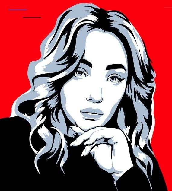 Pop Art Style Drawing