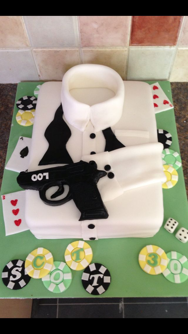 James Bond Th Birthday Cakes