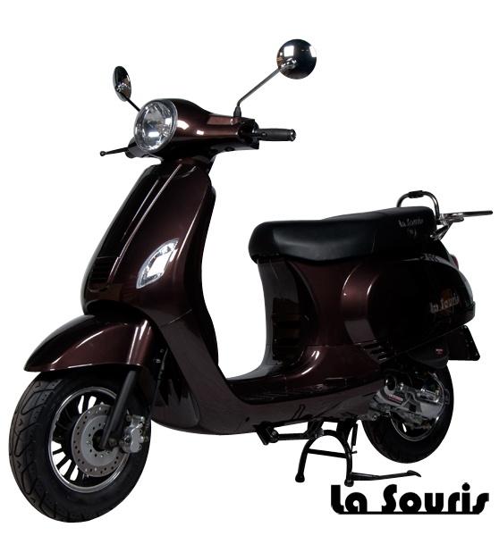 De Vespelini Scooter Brons is voorzien van een halogeen koplamp, geïntegreerde knipperlichten en Led Remlicht. Dit model lijkt veel op de Vespa LX. De scooter wordt geleverd met een gratis chromen bagagerek, t.w.v. € 60,00.