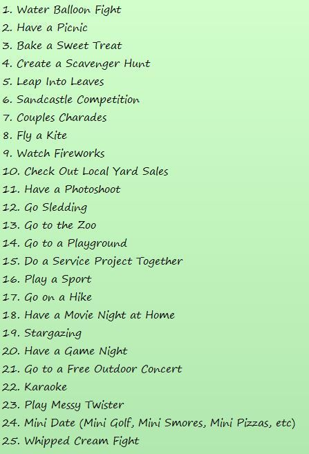 Good Teen Date Ideas 8
