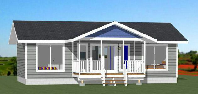 36x20 House 2 Bedroom 2 Bath 720 Sq Ft Pdf Floor Plan Model 2a 29 99 These Are Pdf Plans And In 2020 Building Plans House Floor Plans Small House Plans