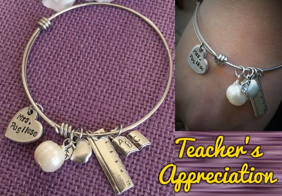 Perfect Custom Bracelet GIFT To Give To Teachers who work hard to inspire your children!