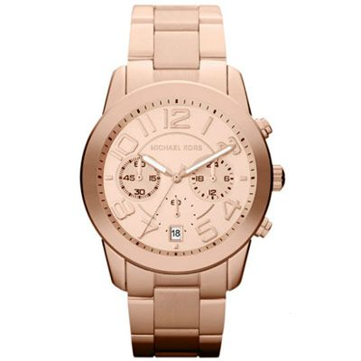 Shop Mid-Size Rose Golden Stainless Steel Mercer Chronograph Watch from Michael  Kors at Neiman Marcus Last Call, where you\u0027ll save as much as on designer  ...