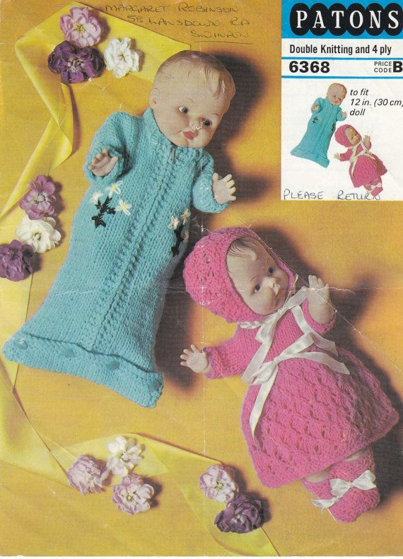Knitting Pattern For Dolls Sleeping Bag : 1000+ images about Baby & Doll Knitting & Crochet Patterns ...