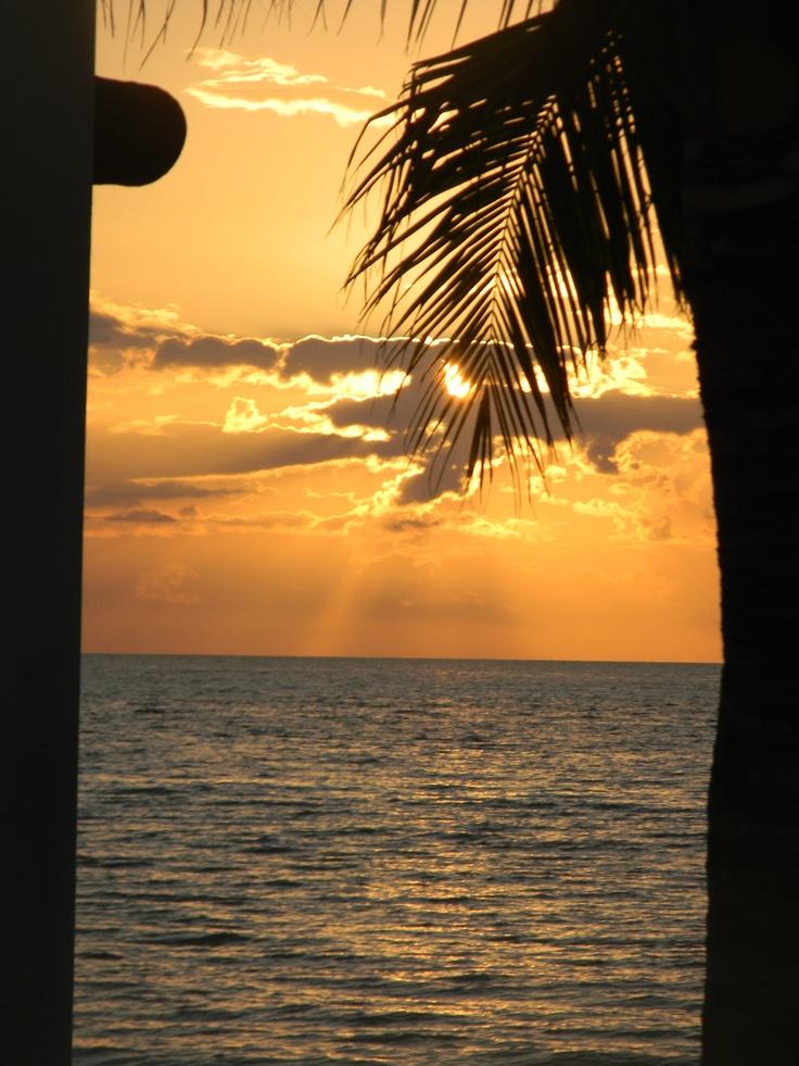 West Coast Cozumel, Mexico sunset