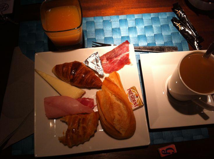 Breakfast in hotel at Paris