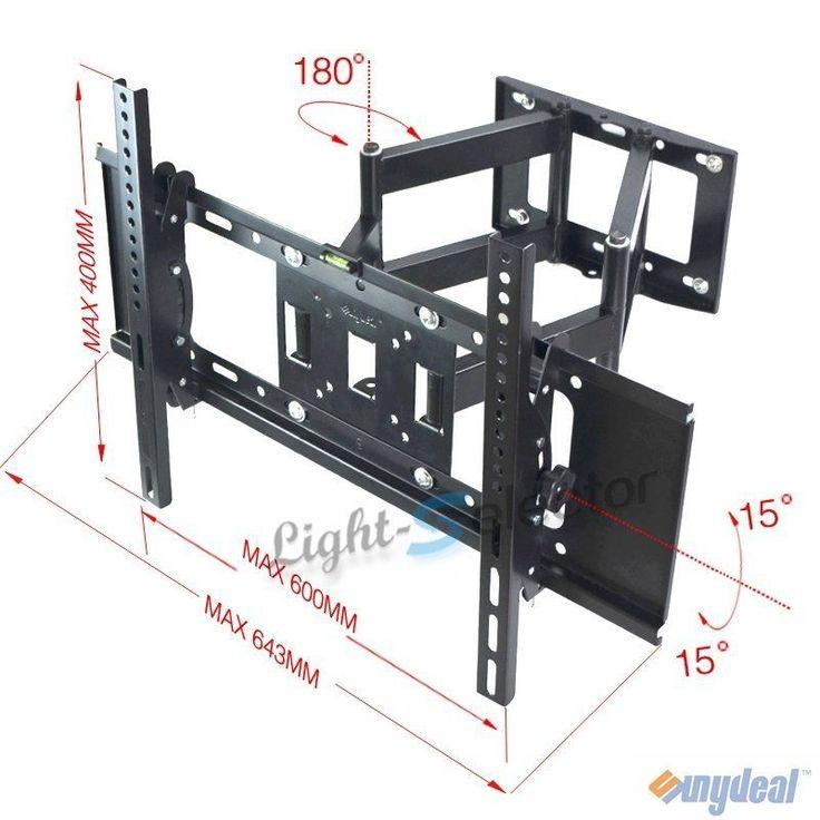 FULL MOTION TILT LCD LED TV WALL MOUNT BRACKET 42 46 47 50 55 60 65 70 INCH #Sunydeal