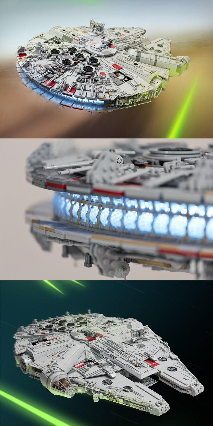 1 Star Wars Fan Spent a Year Building This INSANE Lego Millennium Falcon