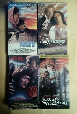 LOT OF (4) VHS TAPES TRUE LIFE STORIES (SALLY HEMINGS /A CRY IN THE DARK) & MORE