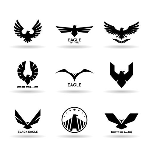 Eagles-logos-huge-collection-vectors-09.jpg (500×522)