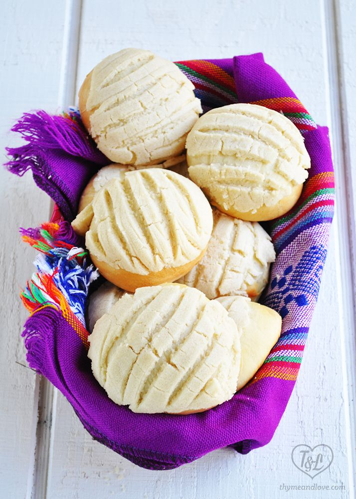 Vegan Conchas   Mexican Pan Dulce -A popular sweet bread served all throughout Mexico. Delicious with a cup of coffee!