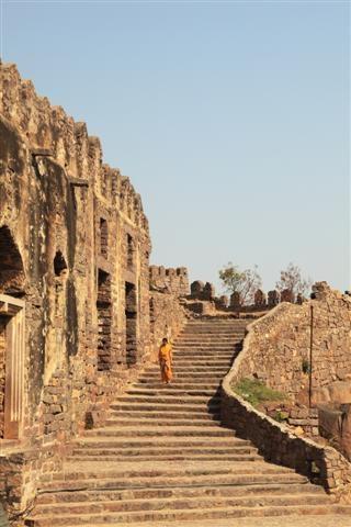 Golkonda fort, Hyderabad, Andhra Pradesh, India
