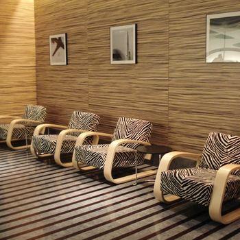 Your furniture should show your wild side. Artek Alvar Aalto 400 - Lounge Chair - Zebra Print Upholstery