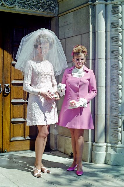 Wedding in 1969. great dress idea for the court wedding