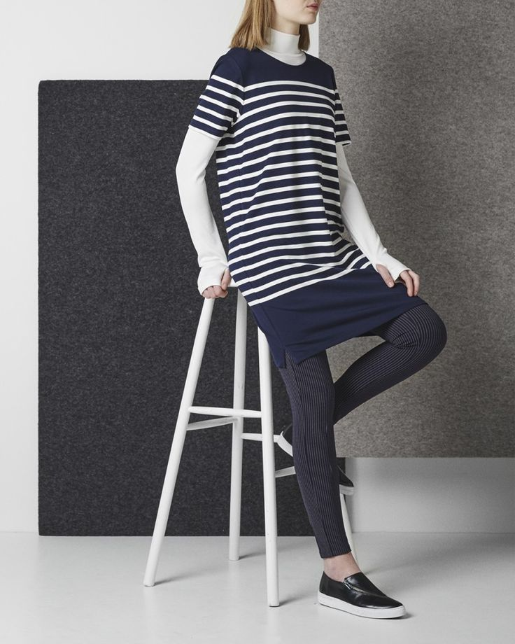 'I love stripes' is taken to a whole new level with this style consideration. Think outside of the rule box and mix your classic horizontal striped tee with your staple pinstripe pants. The key here is to make sure the scale of the stripes varies in size and width to avoid hurting the eyes.