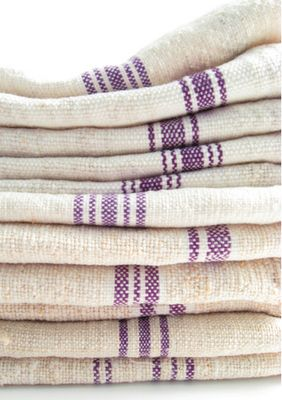 Purple Stripe Vintage Towel/Napkin by Transylvanian Images,  GRDNBKLYN.COM