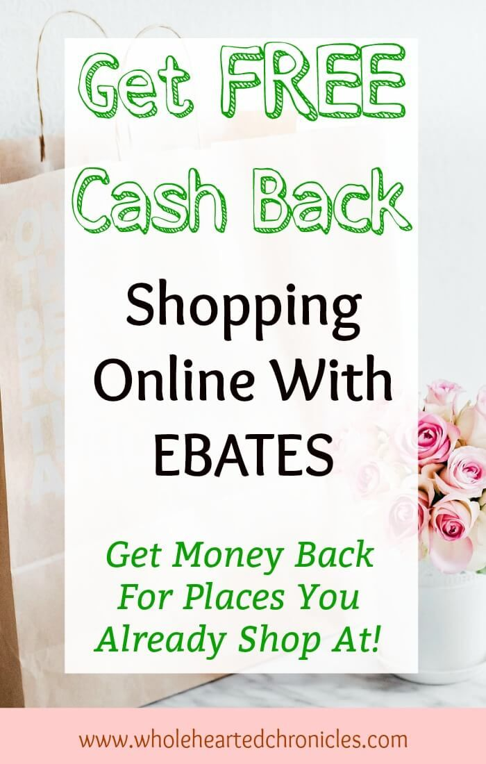 Are you using Ebates when you shop online and in stores? If not, you should start now! I have saved hundreds of dollars by using Ebates for my favorite stores. I can't believe it's FREE!