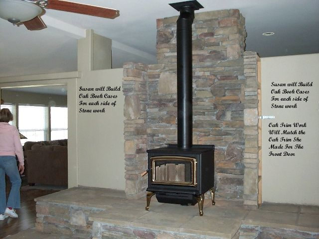 Wood Stove With Step Down Hearth Images Step By Step