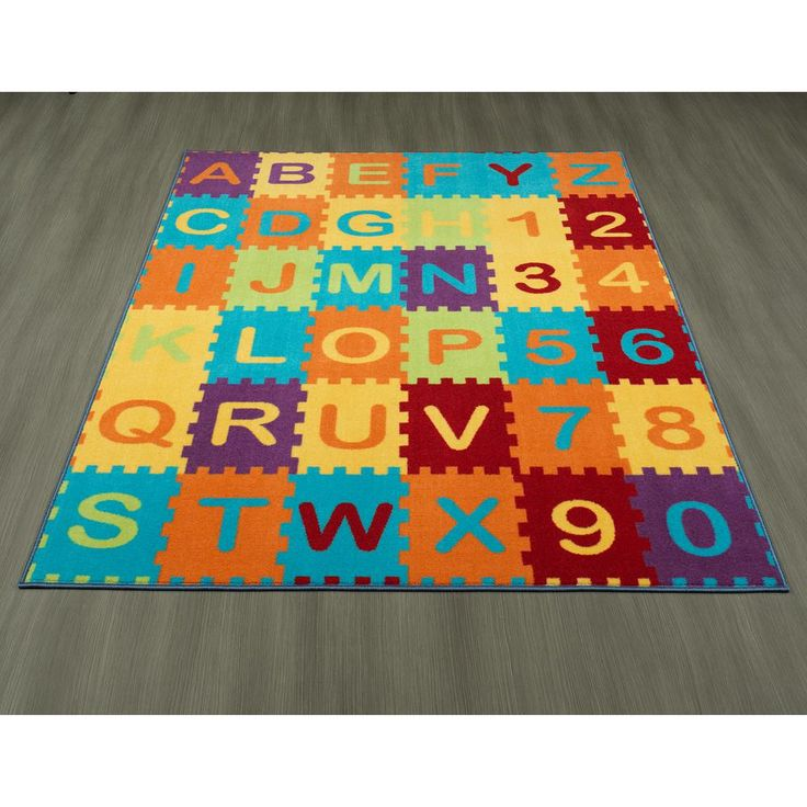 children collection multicolor puzzle educational letter design 8 ft 2 in x 9 ft 10 in nonslip kid area rug