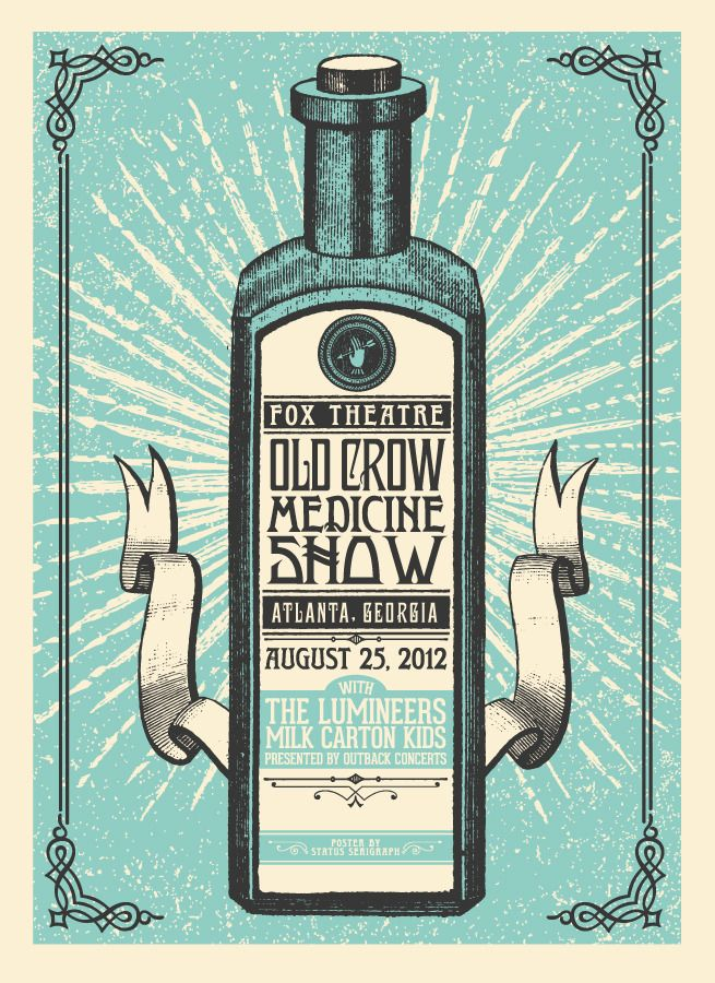Old Crow gig poster yep I was there