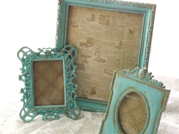 Highlights Of My Shop, Aqua, Turquise, Mint Green, French Country Shabby Home Decor by Michele and Ashley on Etsy