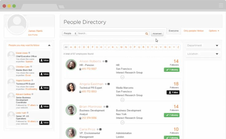 People Directory