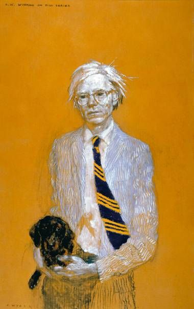 Andy Warhol Working on Piss Series by Jamie Wyeth