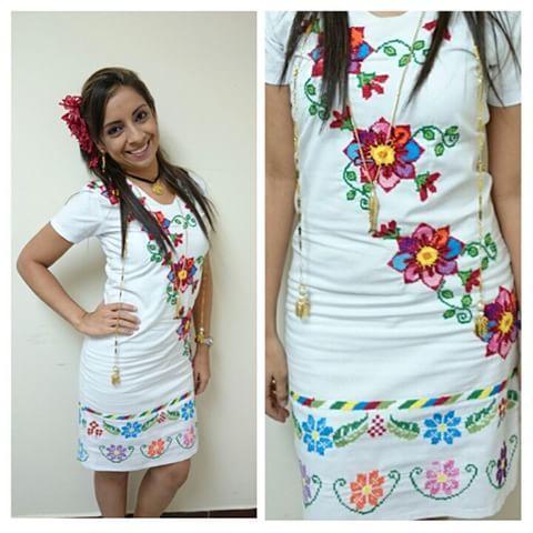 Vestido con diseños exclusivos de #Materialesangie