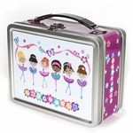 Our personalized lunch boxes make your child feel special every day! Each one of our lunch boxes features your child�s name on multiple sides. On the inside lid, there�s a chalkboard where you can write a personalized note to your child each morning!Safe for storing food, our lunch boxes are made of tin and contain no lead. They�re also great for storing toys and other treasures!Hand wash with dish soap. Do not put into dishwasher. Chalk is not included.Gender and ages:Boys and Girls ages…