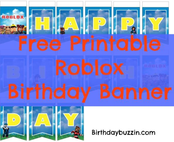 Free Printable Roblox Birthday Banner Birthday Buzzin Birthday Banner Free Printable Printable Birthday Banner Birthday Banner