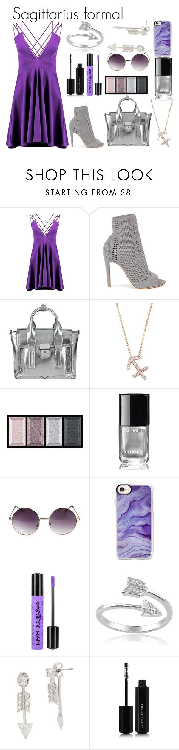 """""""Sagittarius formal"""" by lottie2004 ❤ liked on Polyvore featuring Boohoo, Gianvito Rossi, 3.1 Phillip Lim, Latelita, Clé de Peau Beauté, Chanel, Casetify, NYX, Journee Collection and Betsey Johnson"""