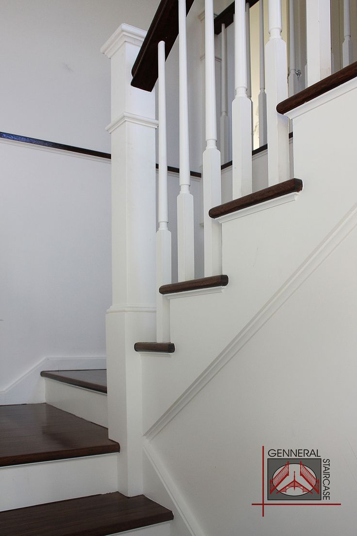 Hamptons style staircase. Made by Genneral Staircase.